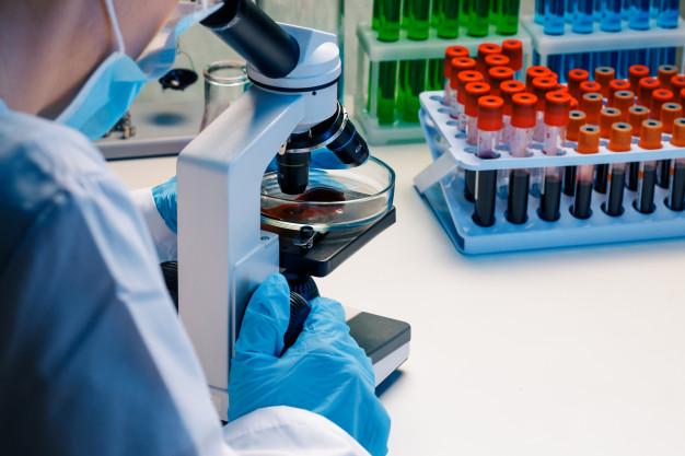 manos trabajador laboratorio haciendo analisis sangre 93675 86100
