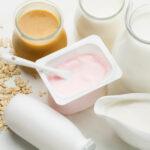 close up fresh yogurt with organic milk