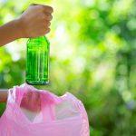 dumping garbage in garbage bags