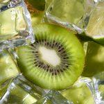 fresh kiwi with ice
