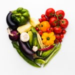 heart arrangement made of vegetables
