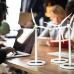 windmill models on meeting table